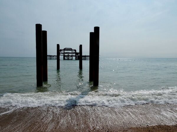 Richard Perry - Sea Breaking by Old Palace Pier, Brighton