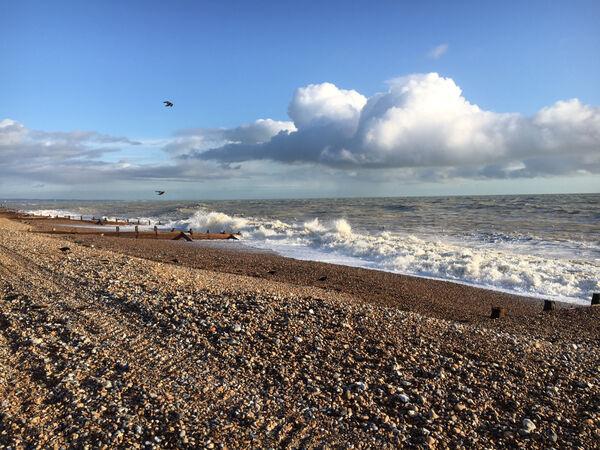 Richard Perry - Waves Breaking on Worthing Beach