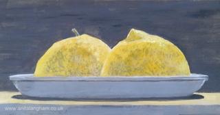 Yellow Lemons Painting