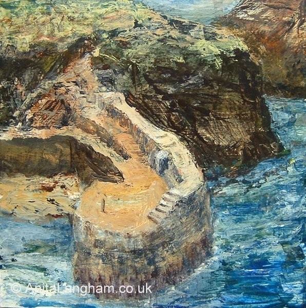 Boscastle Quay Boscastle Harbour summer Cornwall signed print