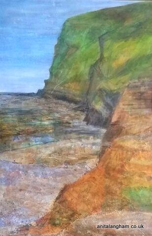Crackington Haven Beach painting original