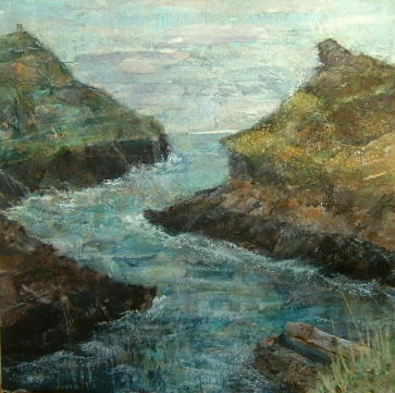 Boscastle Harbour View Cornwall limited edition print painting for sale