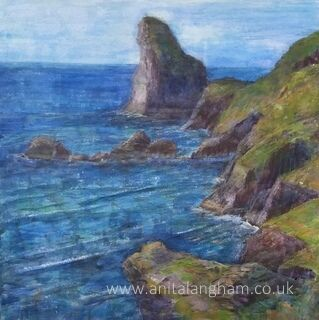 Rocky Valley Tintagel Summer painting
