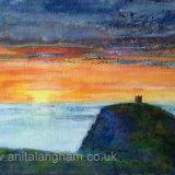sunset, boscastle