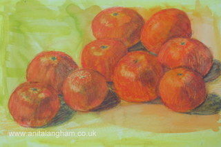 Sweet Clementines Fruit Painting