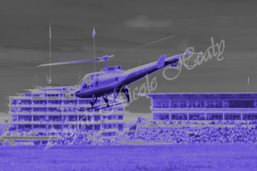 Helicopter Take-off Mid-race at Epsom