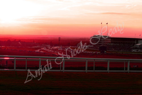 Sunset over The Epsom Downs Racecourse