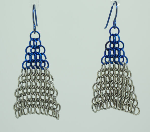 Blue Arrowhead Earrings