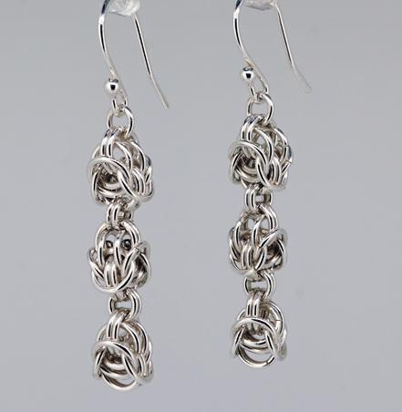 Sterling Silver Byzantine Knot Earrings