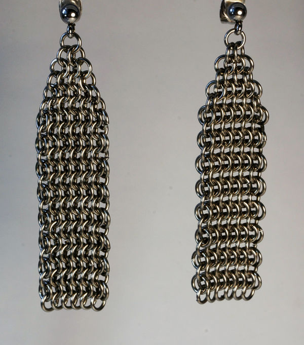 Chainmaille Drop Earrings
