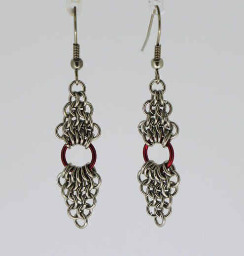 Double Diamonds with Red Earrings
