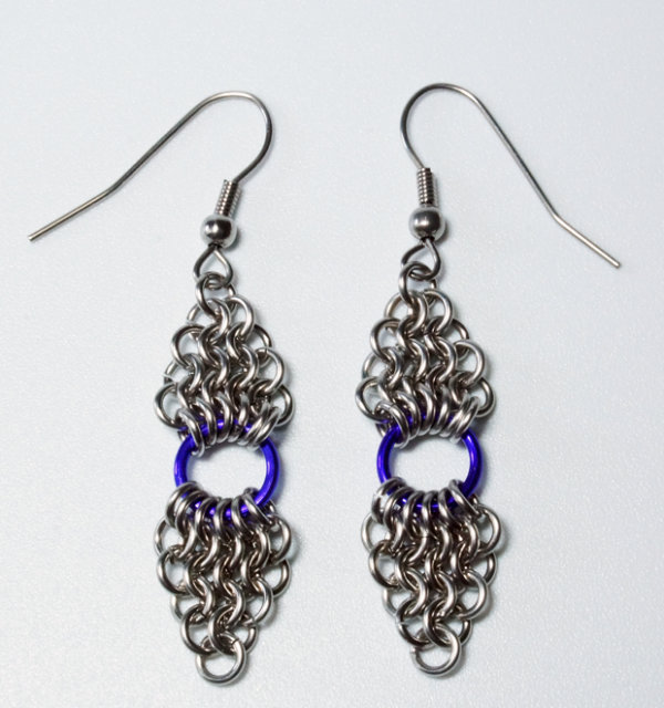 Double Diamond Drop Earrings
