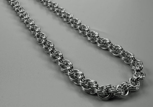 Sterling Silver Double Spiral necklace
