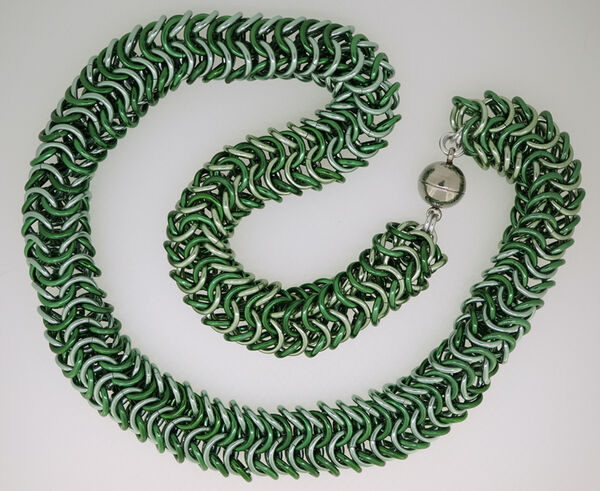 Shades of Green Rope Necklace