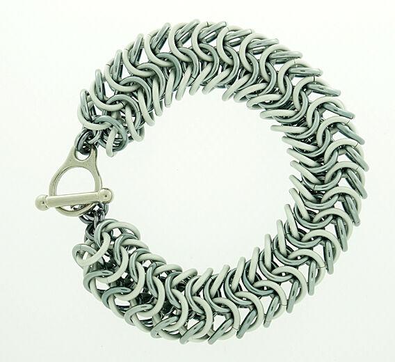 Gey and Gunmetal Rope Bracelet