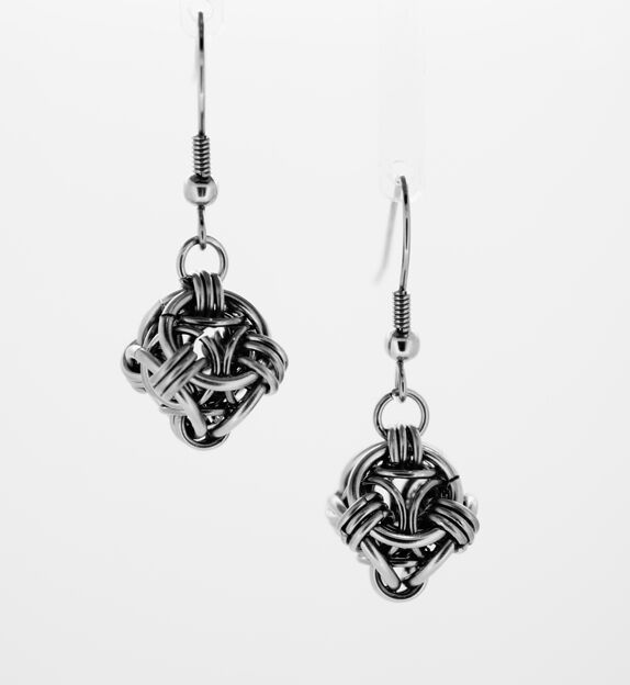 Helm Orb stainless steel Earrings