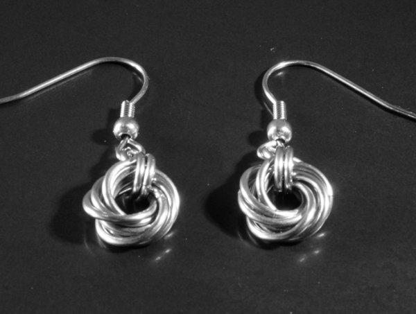Stainless Steel Mobius Knot earrings