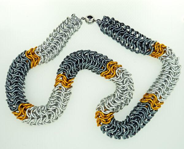 Orange and Gunmetal Rope