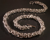 Stainless Steel Byzantine Necklace
