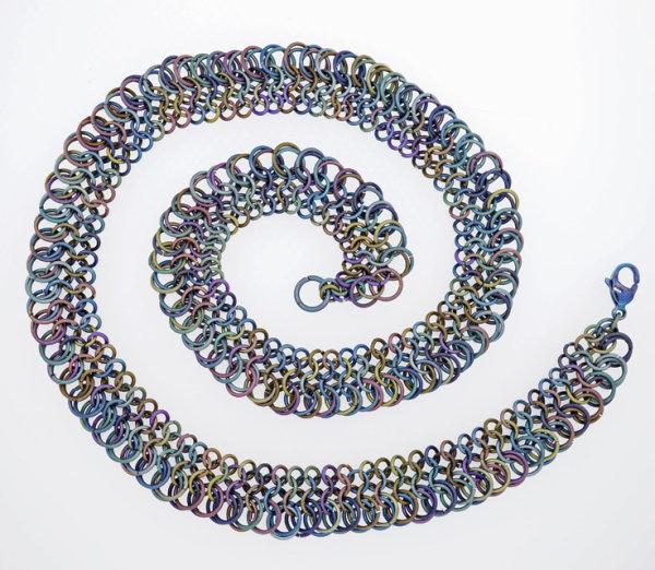Titanium  Lace Necklace