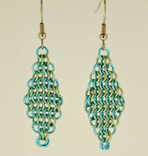 Tow-Tone Diamond Drop Earrings