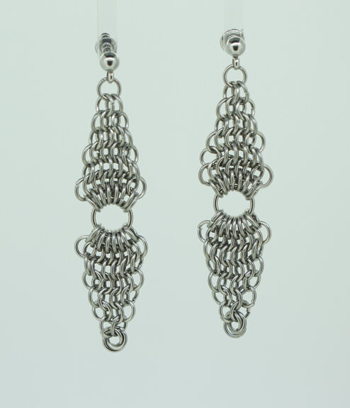 Double Diamond Earrings