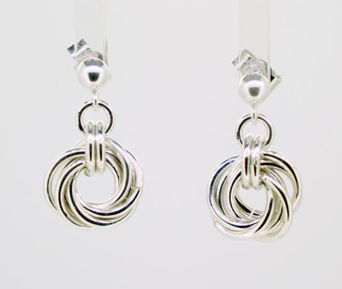 Sterling Silver Mobius Knot earrings