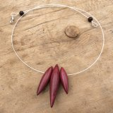 Purpleheart Drops Necklace