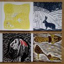 Mapping series, Hare in the snow, Puffin, Shoes