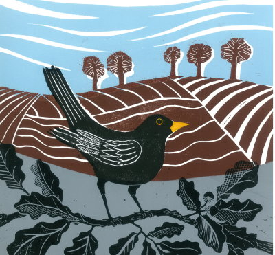 Blackbird in the Oak Tree