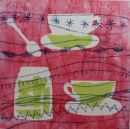 Breakfast monoprint