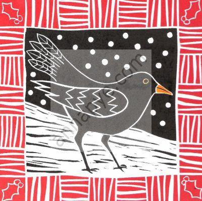 Winter blackbird