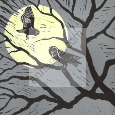 Moonlit Owls