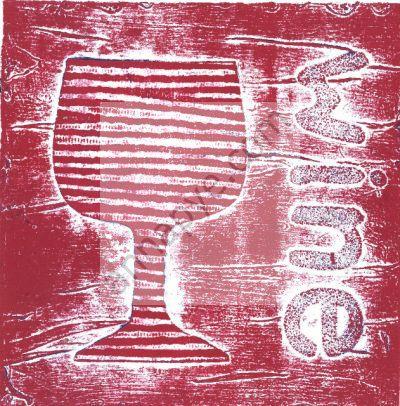 Wine collagraph