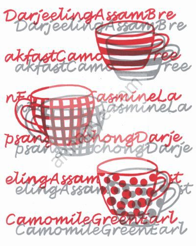 Tea screenprint