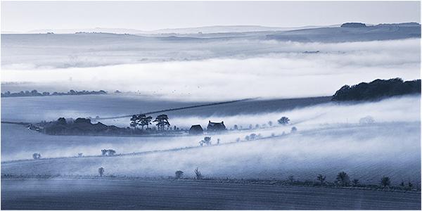 Mist over the Marlborough Downs
