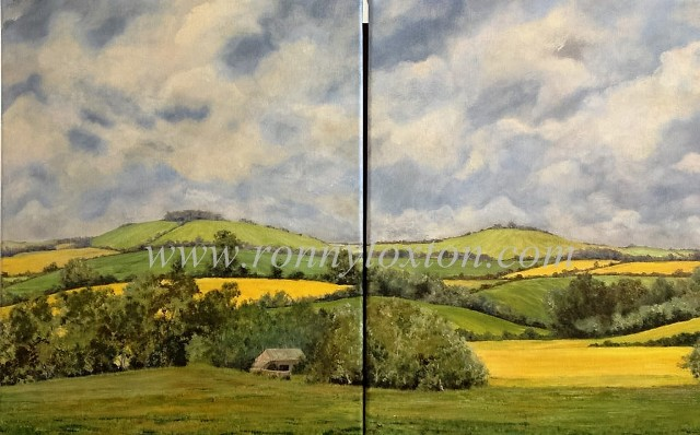 327b Changing Countryside Diptych