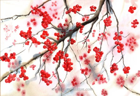 Christmas cards Berries CC2