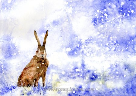 Christmas cards Hare CC5