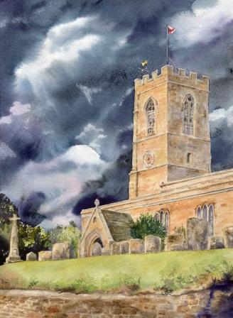 Swalcliffe Church Thundery Sky