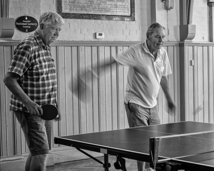 over 60s table tennis