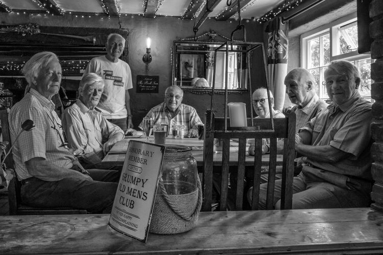 the old farts at The Bull