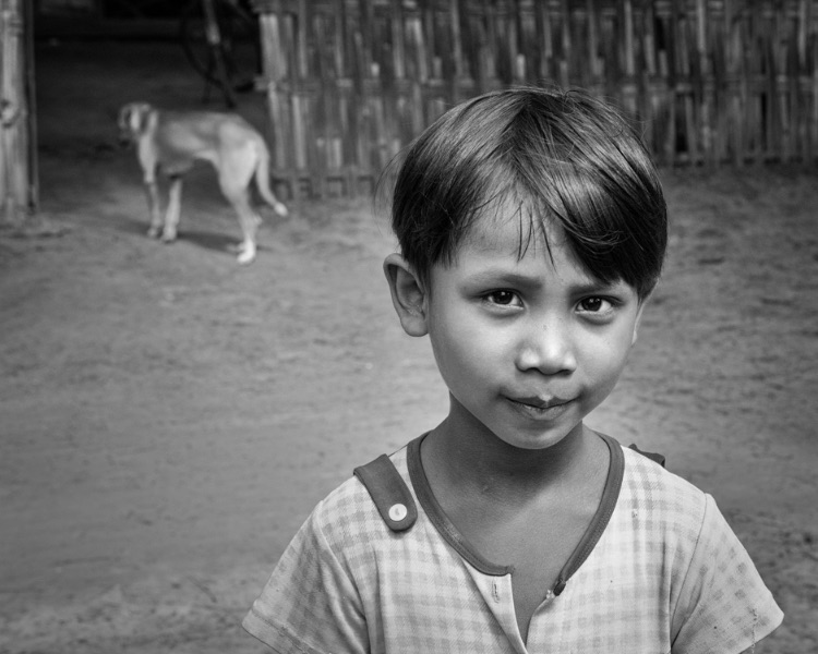 village girl, myanmar