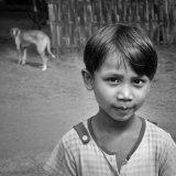 village girl, myanmar