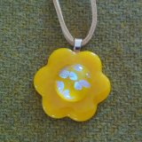 Yellow flower pendant