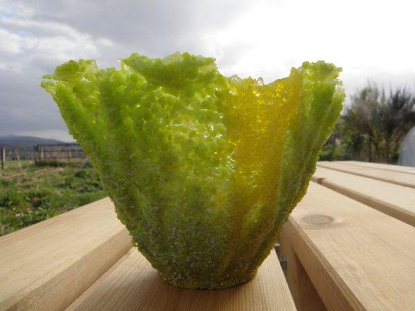 Spring pate de verre bowl