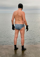 Swimmer at Forty Foot