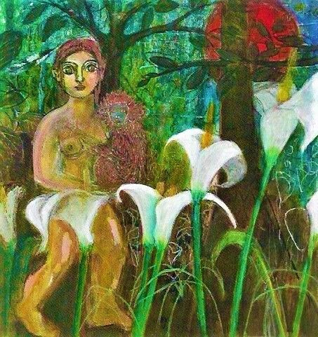Anne Russell at gallery 286 monkey lilies wilderness