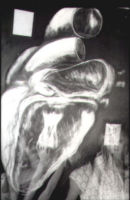 inside a heart .1986. charcoal chalk .linseed oil 7ft x5 ft