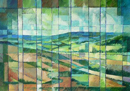 Fragmentation Fields. Acrylic